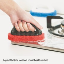 Strong Multifunction Sponge Cleaning Brush With Handle Home Bathroom Kicten Floor Cleaning Brush Dust Tool(China)