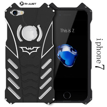 I7 I7 plus case for iphone 7/7 plus,Armor Heavy Dust Metal Aluminum CNC BATMAN protect Skeleton head phone case+BATMAN bracket