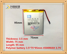 357595 3.7V 4500mah Lithium polymer Battery with Protection Board For PDA Tablet PCs Digital Products