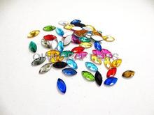 800pcs premium assorted Flat Back Cat eye Navette Marquise shape Jewels Resin Rhinestones 7*15mm mixed colors taiwan acrylic