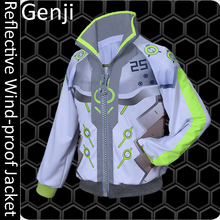 2017 New Game OW Genji Reflective Wind-proof Jacket Science fiction Design S-XL in stock Free shipping(China)