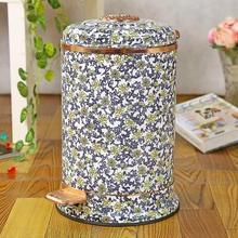 10L/6L luxury foot pedal stainless steel goldpated trash bins metal trash can waste bin recycle bin stainless trash bin LJT024(China)