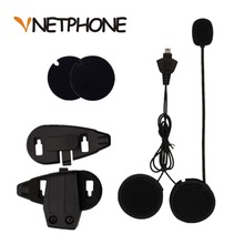 2017 Hot Sale Casco Capacete Microphone Speaker Headset And Helmet Bracket Clip for Motorcycle Bluetooth Intercom Vnetphone V5