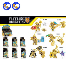 (A Toy A Dream)6pcs/lot Dragon New Golden Nexo Knights Future Shield Building Blocks Castle Warrior Nexus Kids Toys Gift