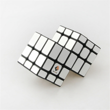 Cubetwist Silver Mirror Two 333 Puzzle Speed Cube Conjoint Cube Magic Bandaged Cube Cast Coated Kids Present Toy Figures