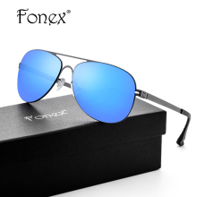 FONEX No Screw Hot Elastic My Germany Style Aviation Sunglasses Women Brand Designer Aviador Sun Glasses for Men Rays Protection(China)