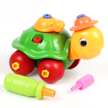 Baby Kids Animal Puzzle Educational Toys Children Disassembly Assembly Cartoon Giraffe Snail Tortoise Rabbit Puzzle Toy Gift(China)