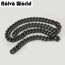 5 meters 4.7X17mm Wide 100% Aluminium Chain Retro Antique Silver color Roller Alum Light chain for hand bag purse adjusted strap(China)