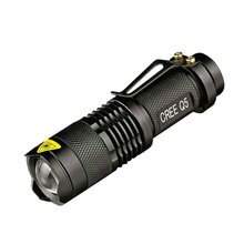 Portable Mini LED Flashlight 7W CREE Q5 Waterproof Lanterna 3 Modes Zoomable Torch AA 14500 battery Linterna led - HEDELI store