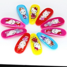 10pcs Isnice Carton Candy Color Girls Hairpin 5.6cm BB Clips Snap Band Hairpins Kids Hair Accessories(China)