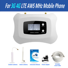 SMART LCD Display! 3G 4G repeater AWS 1700MHZ Mobile Signal Booster,  Cell Phone 4g signal Amplifier for America home/office use