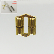 4pcs Free shipping 8mm hidden gift cello violin wooden box invisible brass concealed mini cylinder barrel hinges(China)