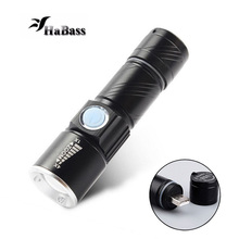2000lumens USB Handy LED Torch usb Flash Light Pocket LED Rechargeable Mini Flashlight Zoomable Lamp with Battery(China)