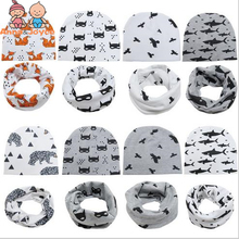 1set  Hat+ Scarf  2017 New Pattern Children Accessories Baby Head Cap Children's Hat Baby Cartoon Hat TRQ1078