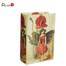 Europe Small Wooden Book Boxes Pretty Girl Floral Printed Storage Box Jewelry Sundries Holder Home Organization 14x9x4.5cm(China)