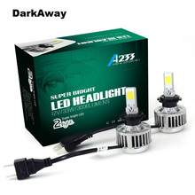 COB LED H7 Car Headlights Kit 66W 6000lm Auto Front Light H7 Fog Bulb 3000K Xenon White 6500K Plug&Play LED Automotive Headlamp