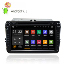 Automotive 8 inch Volkswagen 2 Din Multimedia Android 7.1.1 OS Car DVD Player With GPS Navigation System Radio Stereo Head Unit(China)