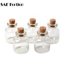 SAE Fortion 5pcs/Lot 22x28mm Tiny Small Clear Cork Glass Bottles Vials 4 ml Jar Containers For Wedding Holiday Decoration MD686(China)
