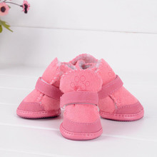 Hot Sales Small Dog Cat Pet Shoes Chihuahua Puppy Winter Warm Boots Shoes S-XXL 2Color
