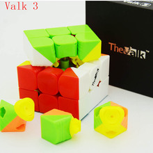 Qiyi Mofangge Valk3 Black/Stickerless 3layer Speed Cube Valk 3 Cubo Magico Professional Funny Toys For Children 555mm(China)