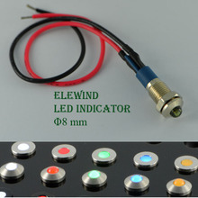 ELEWIND sealed indicator with LED(PM08B-D/G/12V/S/IP67 with 15cm wiring )(China)