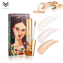 HUAMIANLI Liquid Highlighter MakeUp Matte Highlighter Cream Concealer Glow Ultra-concentrated illuminator Concealer Dark skin(China)