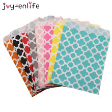 "JOY-ENLIFE 25pcs 5""x7"" Colorful Chevron/flower Grease Food Paper Bags For Baby Shower Wedding Decor Birthday Party Supplies(China)"