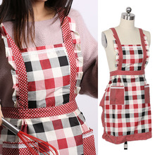 1Pc Hot Waterproof Apron Dress Pocket Floral Roses for Cooking Kitchen Chef Waitress Restaurant Kitchen cooking apron