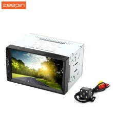 Universal 8001 12V Car Video Player Auto Audio Stereo 7'' 2Din Car DVD Player USB FM Bluetooth Rear View Camera Available