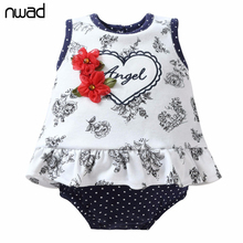 2017 Baby Clothing Summer Newborn Flower Heart Printing Baby Clothes Infant Romper Baby One Piece Jumpsuit Baby Product FF346