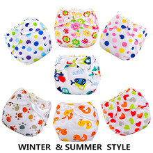 1pcs Baby Diapers/Children Cloth Diaper/Reusable Nappies/Adjustable Diaper Cover/Washable RFDE52136(China)