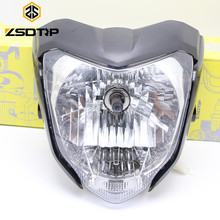 Free shipping ZSDTRP Black Red Blue gray Motorcycle Head light headlamp comp with lamp case for Yamaha FZ 16 many racing motor(China)