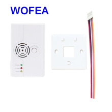 WOFEA CE LPG gas detector alarm Combustible wired Network Gas detector alarm(China)