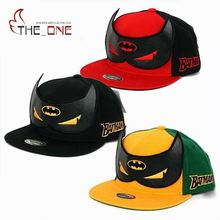 2016 2-8T Baby Boys Girls Korean Batman Pattern Caps Children Snapback Summer Adjustable Hip Hop Hats Decoration T351(China)