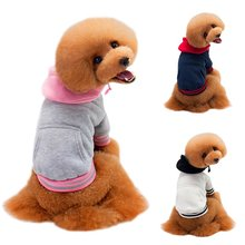 Fashion Cotton Sports Sweater Fight Color Dog Hoodie Teddy Pet Clothes Winter Pet Clothing Teddy Bears Cute Style(China)