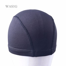 1pcs Glueless Hair Net Wig Liner Cheap Wig Caps For Making Wigs Spandex Net Elastic Dome Wig Cap(China)
