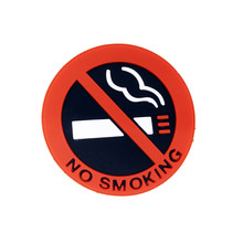 5pcs Warning Sign Stickers Auto Hot Car Styling No Smoking Logo Rubber Latex 3D Stickers For Public Place Home Car decoration