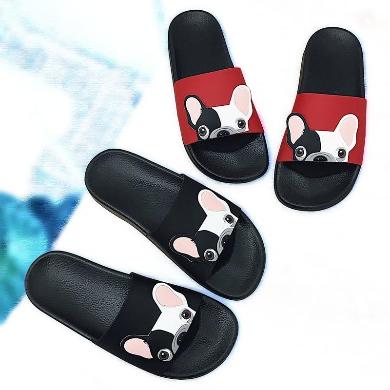 Cartooon Colorful Cat Dog Pattern Summer Slide Slippers For Men Women Kid Indoor Open-Toe Sandal Shoes