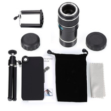 NEW fashion 12X Optical Zoom Camera Telescope Lens telephoto len kit  + Tripod +stand holder cover case for iphone 5 5g