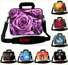 "Neoprene Laptop Sleeve Computer Messenger Bag 17.3 15"" 15.6 13.3 14 11.6 10.6 inch Shoulder Laptop Bag Handle PC Protective Case"