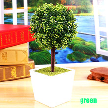 Artificial flower Trigeminal potted Set fake flower plant pine trees  derective plant for wedding home and office