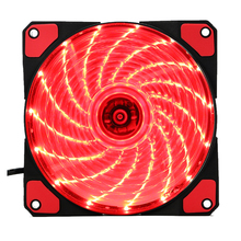 15 Lights 4 Color LED Silent Fan PC Computer Chassis Fan Case Heatsink Cooler Cooling Fan DC 12V 4P 3P 120*120*25mm