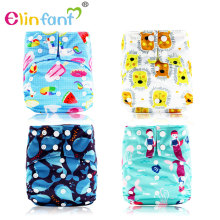 Elinfant  OS suede cloth bamboo baby nappy AI2 fast dry night baby cloth diaper waterproof adjustable super soft freeshipping
