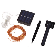 12m 120 LED Solar Lamps Copper Wire Fairy String Patio Lights Waterproof Garden Christmas Wedding Party Decoration Outdoor(China)