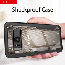 LUPHIE Shockproof Case 대 한 Samsung Galaxy S9 S8 Plus 주 8 9 투명 Case Cover 대 한 Samsung A8 A6 Plus 2018 Armor Case 피부(China)