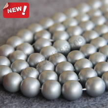 Necklace&Bracelet 14mm Silver Shell pearl beads Seashell DIY gift for women loose beads Jewelry making design 15inch Wholesale