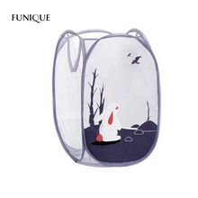 FUNIQUE Sundry Dirty Clothes Basket Boxes Folding Cartoon Large Capacity Storage Basket Storage Barrels Fabric Laundry Basket(China)