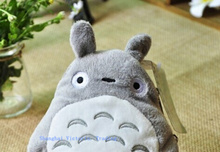 Super KAWAII 13CM Stuffed TOTORO Toy Purse ; Plush Toy , Totoro    CASE , with string rope