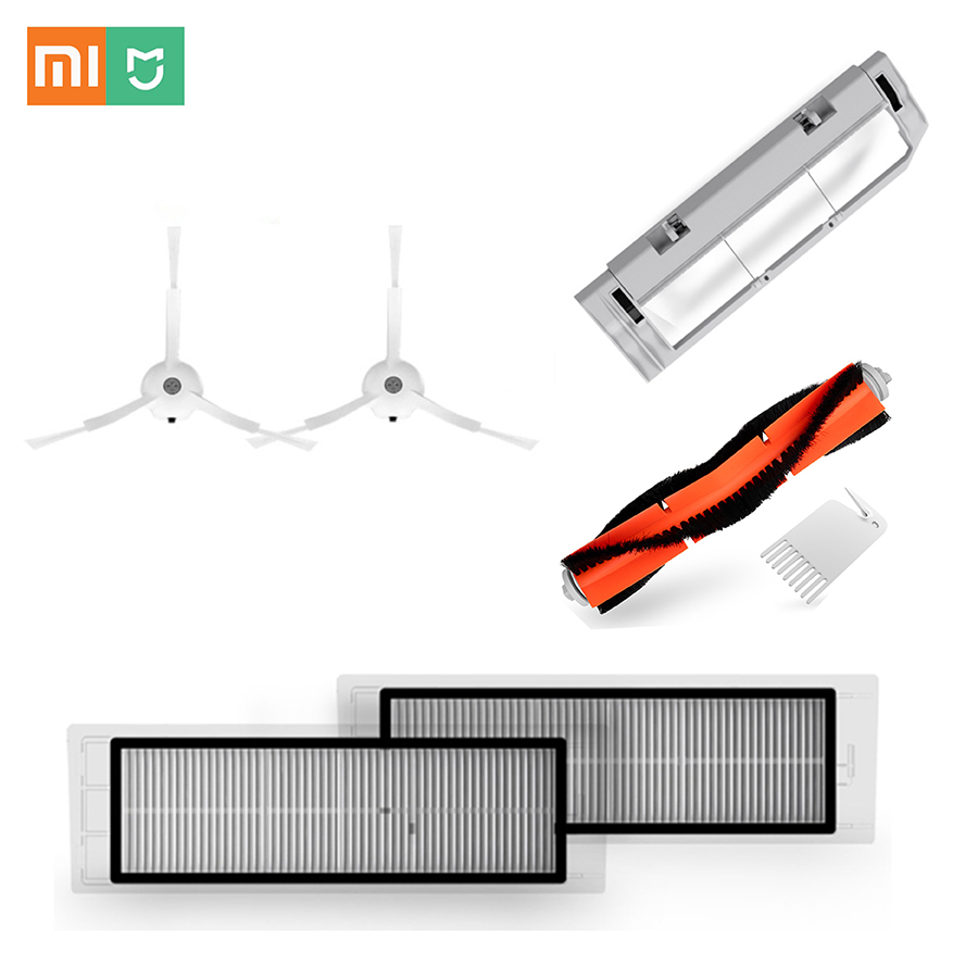 Xiaomi MI Robot 2 1 Cleaner Vacuum Cleaner Spare Replacement Kits Cleaning Brushes x 2 pcs HEPA Filter x 1 pcs Roller