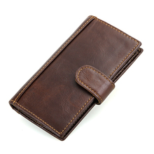 Genuine Leather Men's Wallet Newly RFID Blocking Wallet For Men Protection Credit Card Cowhide Hasp Long Purse Free Shipping
